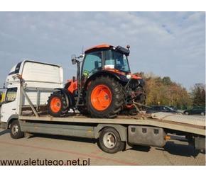 Transport maszyn lawetami do 6 i 14 ton, transport  kombajnów zbożowych
