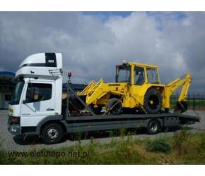 Transport maszyn rolniczych i budowlanych transport niskopodwoziowy